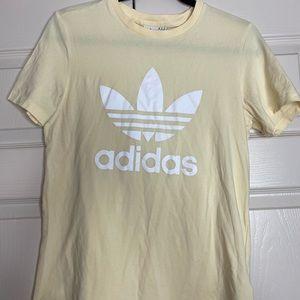 Women's Adidas Shirt / pastel yellow